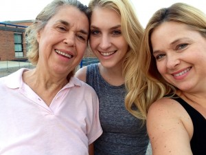 My dear sweet Mom, Sophie and me