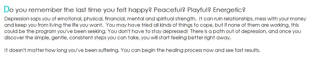 Recover from Depression Now
